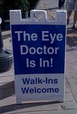 Eye Doctor Sign