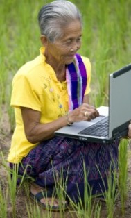 Older Woman and Laptop