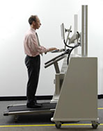 Dr. Jim Levine at his treadmill desk
